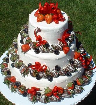 Strawberry Shortcake Wedding Cake   Elegant Eating   Long Island