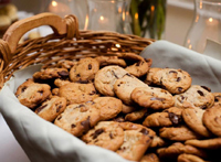 Mouthwatering Chololate Cookies Baked at Catered Party