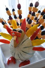 Thanksgiving Turkey - Fruit Display