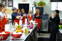 Sushi Instructor Teaching Cooking Class Participants, Suffolk County, Long Island