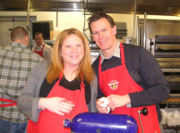 Couple Cooking Together at Cooking Class