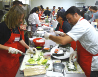 Sushi Cooking Class Particpants at Elegant Eating Cooking Class, Suffolk County, Long Island