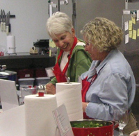 Two Ladies Enjoying Coooking Class