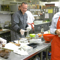 Chef teaching cooking class, Suffolk County, Long Island
