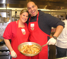 Couple at a Hands-On Cooking Class, Suffolk County, Long Island