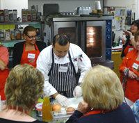 Chef teaching restaurant menu cooking class, suffolk county, long island