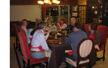 Cooking Class Enjoying Dinner Together
