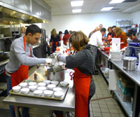 Cooking Class Participants Working Together