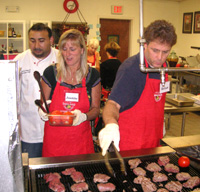 Cooking Class Students Grilling Food