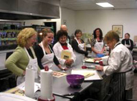 Myra Giving Demo During Cooking Class