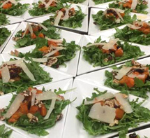 Salads with Roasted Butternut Squash - made in a cooking class.